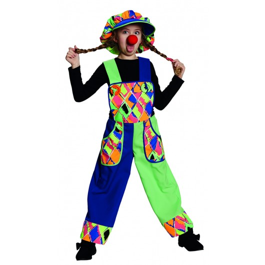 Clown overall verkleedkleding kind