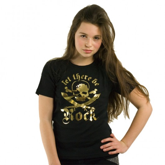 Let there be Rock Logoshirt kinder t-shirt zwart