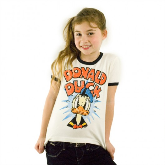 Disney Donald Duck Logoshirt kinder t-shirt wit