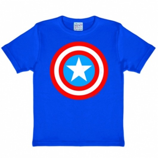 Captain America logo kinder shirt