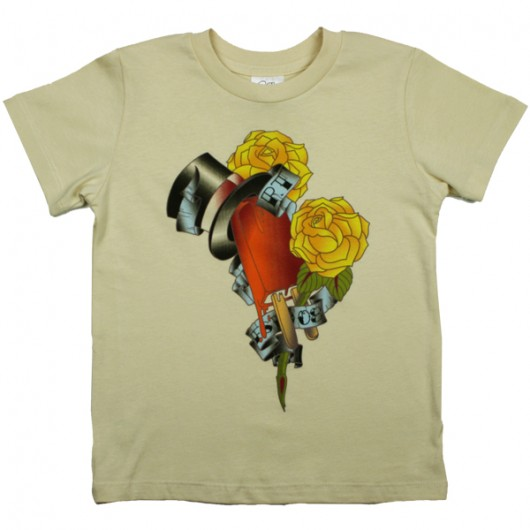 Top Cream Miami Ink kinder t-shirt creme