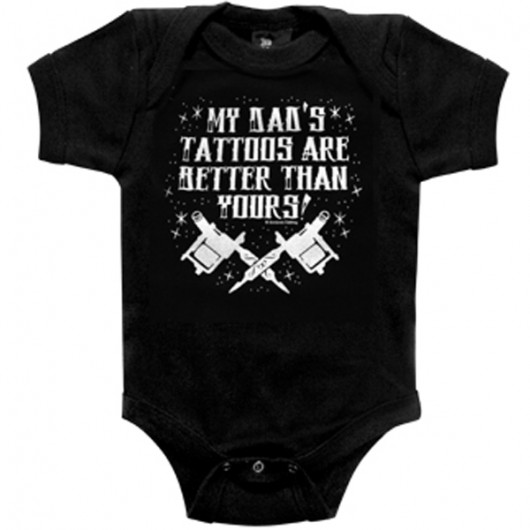 My dads tattoos baby romper