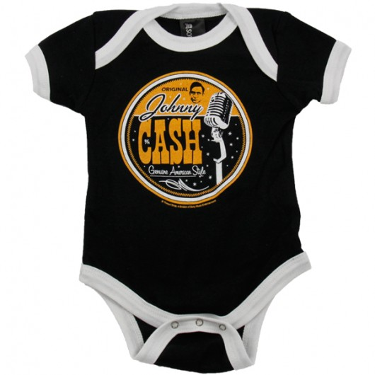 Johnny Cash American style baby romper