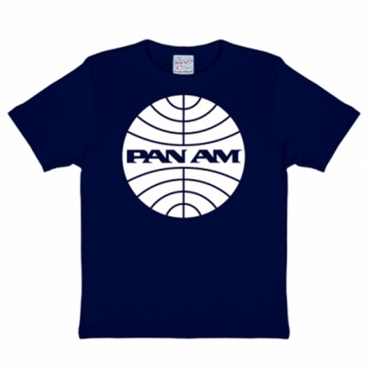 Pan Am Logoshirt kinder t-shirt marine blauw