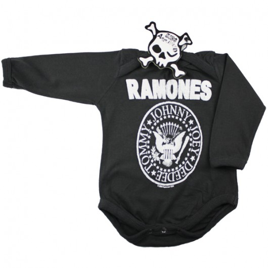 Ramones Seal Logo Amplified Baby Romper Grijs