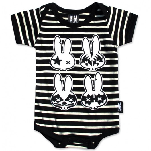 Rock Bunnies Six Bunnies baby romper
