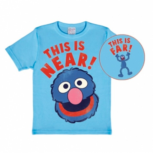 Sesamstraat Grover Near-Far Logoshirt kinder t-shirt blauw