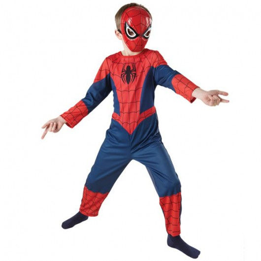 Spiderman Ultimate classic kostuum kind hard masker