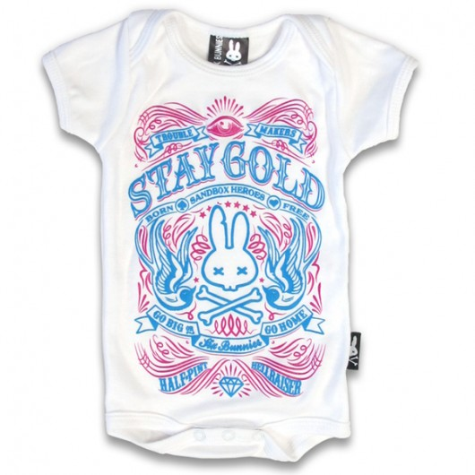 Stay gold Six Bunnies baby romper