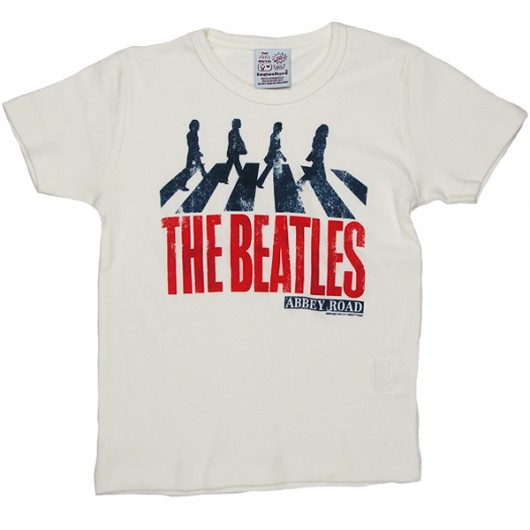 The Beatles Abbey Road Logoshirt kinder t-shirt wit