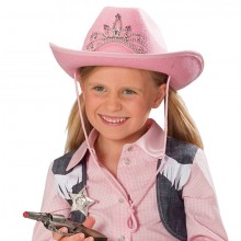 Cowboyhoed kind roze