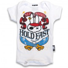 Hold Fast Six Bunnies baby romper