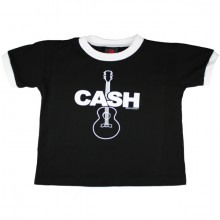 Johnny Cash Gitaar kinder t-shirt zwart