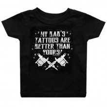 My dads tattoos baby t-shirt zwart
