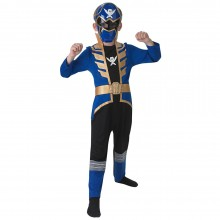 Power Ranger Super Megaforce blauw kostuum kind
