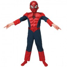 Spiderman Ultimate metallic deluxe kostuum kind