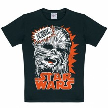 Star Wars Chewbacca kinder shirt zwart