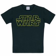 Star Wars logo kinder shirt zwart