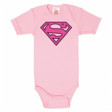 Superman baby romper roze